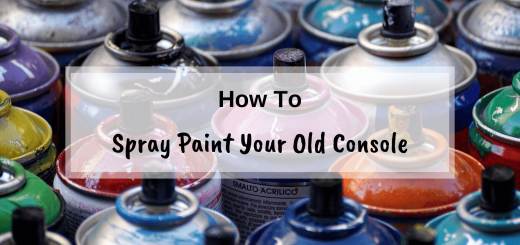 How to spray paint your old games console