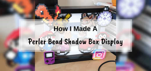Perler Bead Shadow Box Display