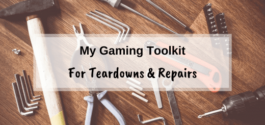 My gaming toolkit for tear downs and repairs