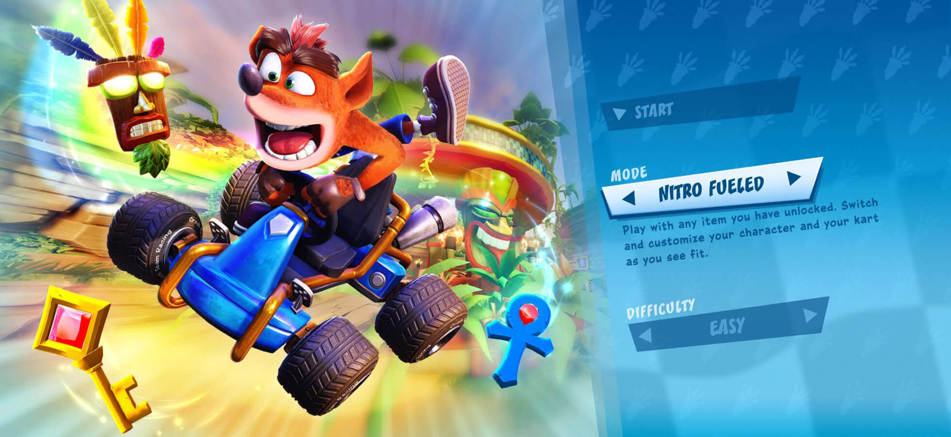 1 Play through the adventure mode in Classic or Nitro-Fueled