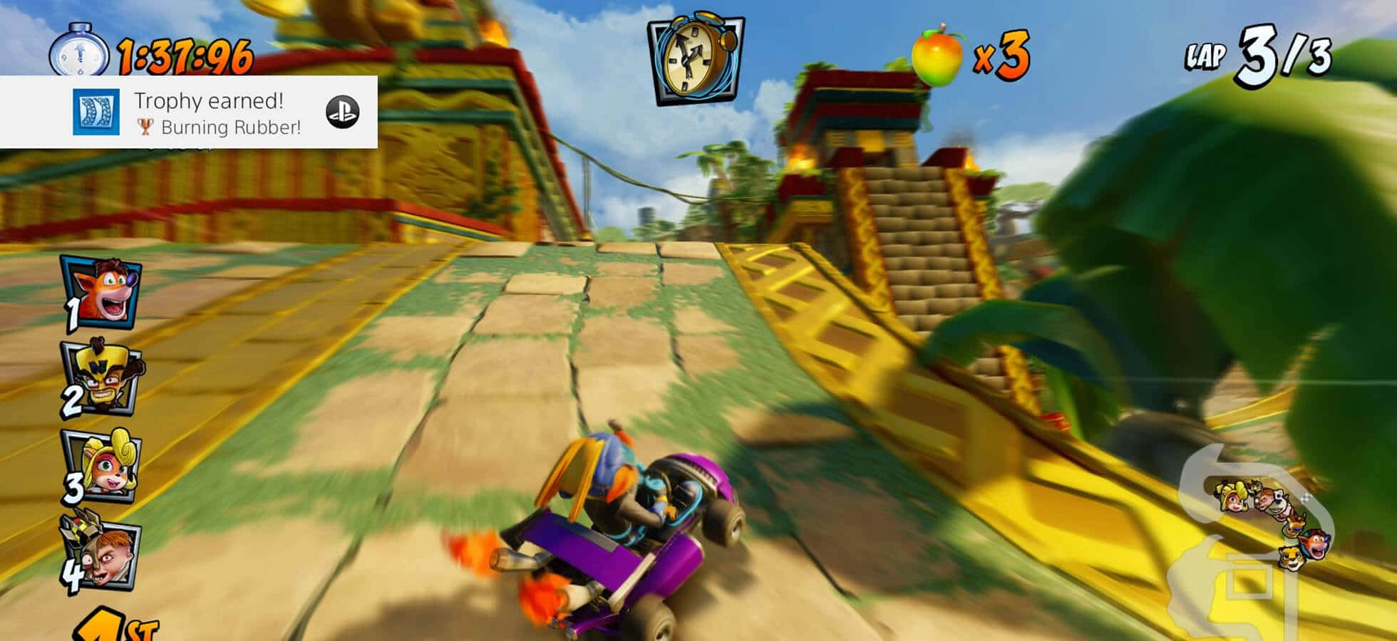 6 Use power ups in optimal places - Crash Team Racing
