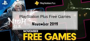 PlayStation Plus Games – November 2019