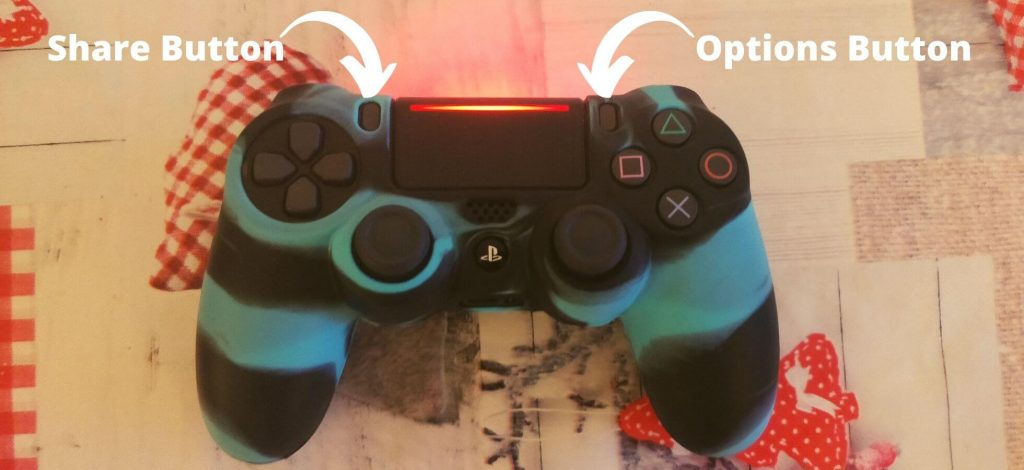 Share Button and Options Button Location on PS4 Controller